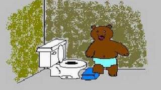 Teddy on the Potty