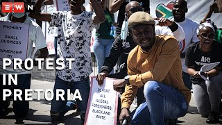 A small group of people marched in Pretoria on 16 October 2020 under the banner of #PutSouthAfricansFirst, saying that foreign nationals were to blame for the country's high crime rate and unemployment.