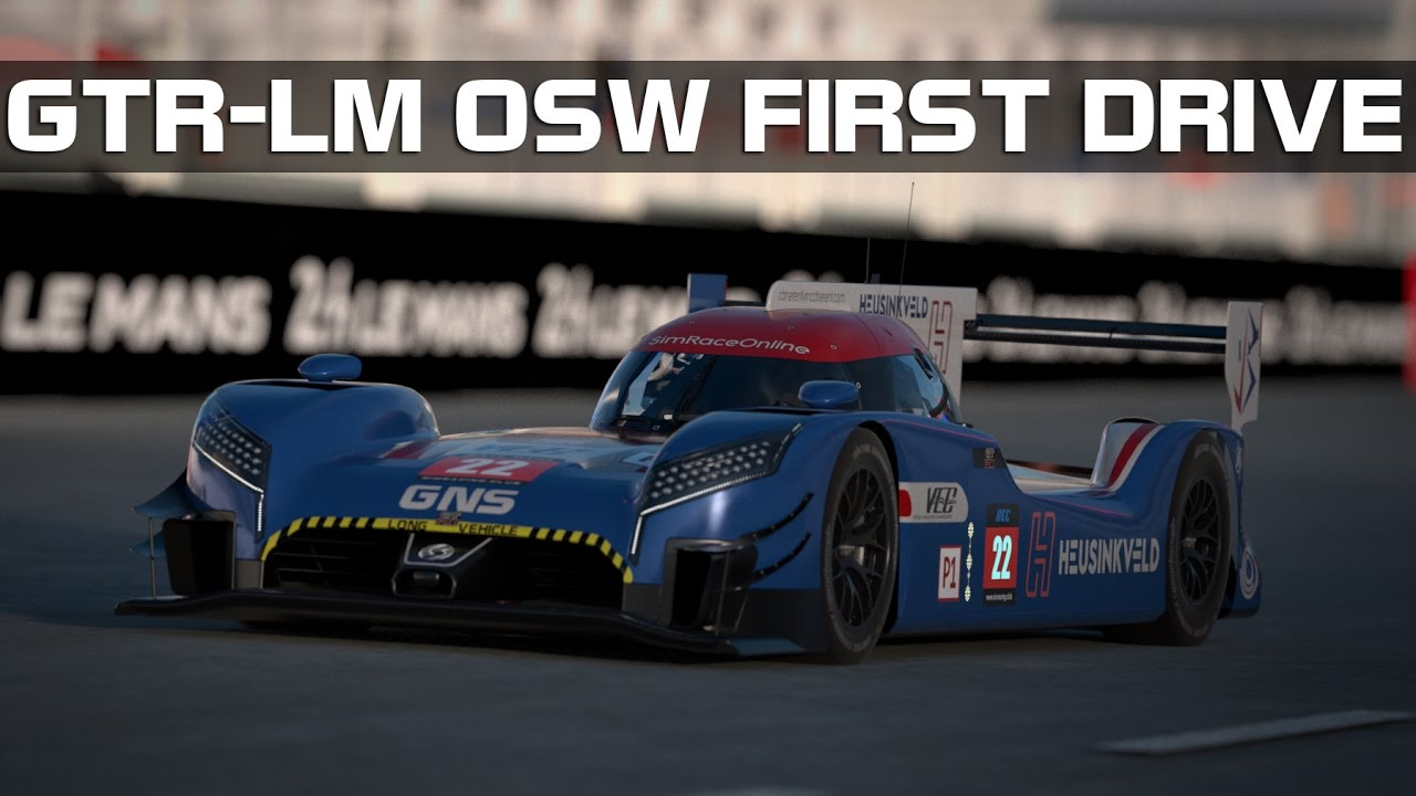 rFactor 2 - First GTR-LM Drive With The OSW
