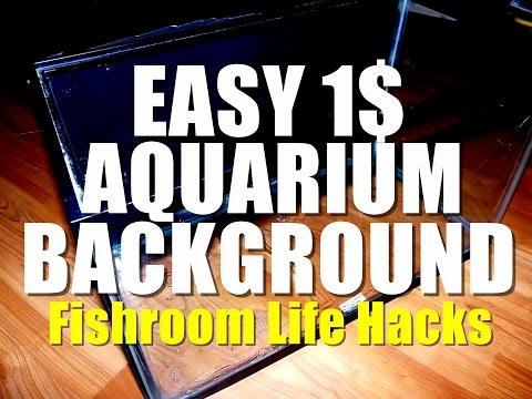 3d aquarium background diy on cheap budget doovi. Black Bedroom Furniture Sets. Home Design Ideas