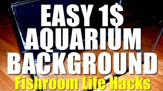 Easy 1$ Diy Aquarium Background!! | Fishroom Life Hacks