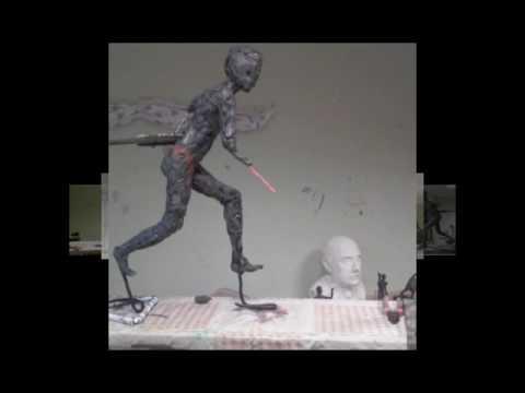 """My diploma work""""Childhood memories"""".Process.100x39x70.Sculptor:Azad Aslanov.City-Baku.2016"""