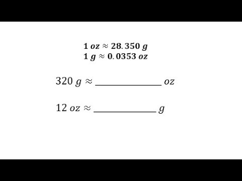 Convert Between Ounces And Grams Using A Unit Fraction