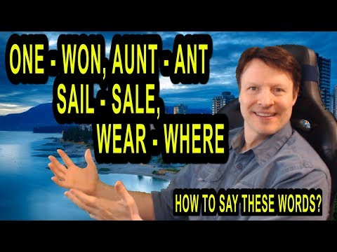 How to say these words?   Learn English Live 73 with Steve Ford