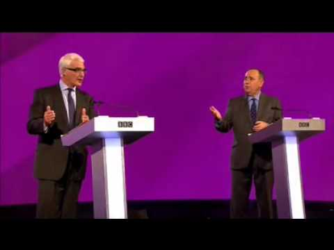 Scottish Independence Currency PLAN  B Revealed Heated Debate Salmond v Darling 25th aug