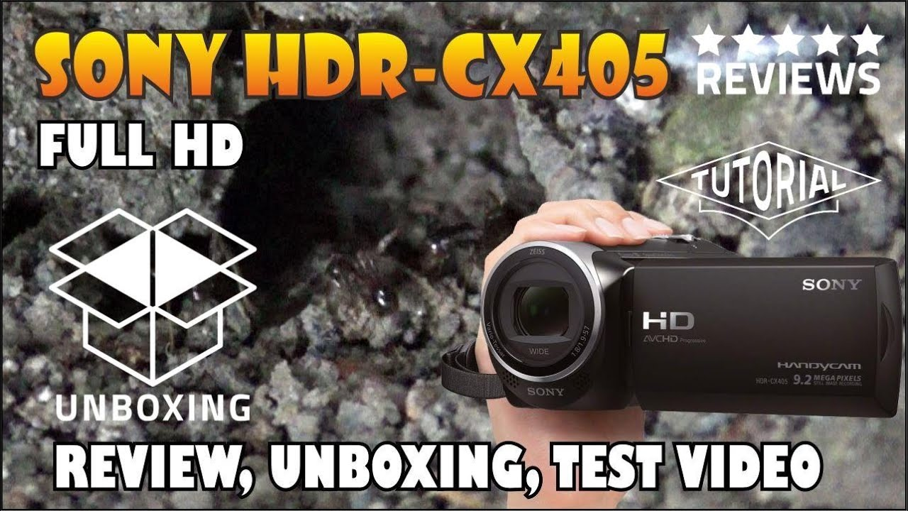 Sony Hdr Cx405 Camcorder Photography T Wallpaper Pj810 Handycam Cx190 High Definition Black