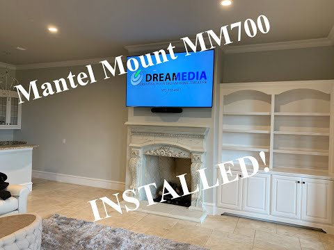 mantel-mount-mm700-/-samsung-qn75q8f-/-sonos-beam-installed