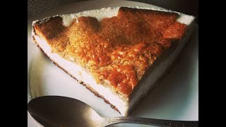Рецепт. Диетический бисквитный торт с молочным суфле по Дюкану (киндер-пингви)
