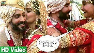 Most adorable Video of Sonam kapoor's wedding | Sonam Kapoor kissed Anand Ahuja after wedding | Cute