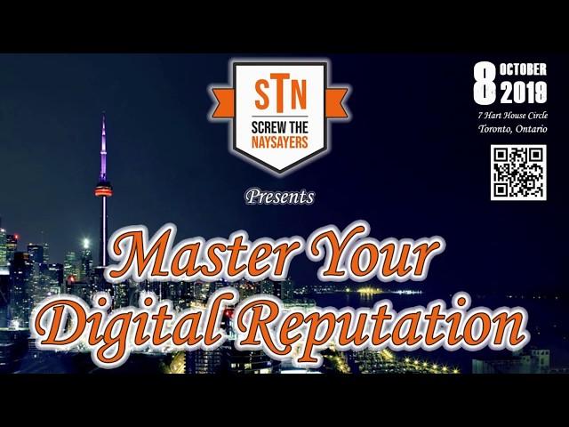Master Your Digital Reputation - Toronto networking events - Toronto business networking event