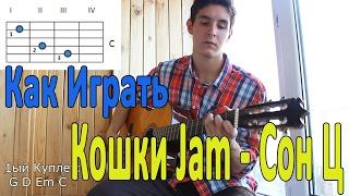"""#15 Как Играть """"Кошки Jam - Сон Ц"""" на гитаре ( Видео Разбор Песни ) / Уроки Игры На Гитаре"""