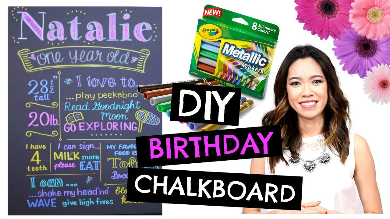 DIY 1st BIRTHDAY Chalkboard: Easy & Cheap! - YouTube