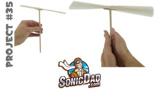 How To Make A Helicopter From Popsicle Sticks - Sonicdad Project #35