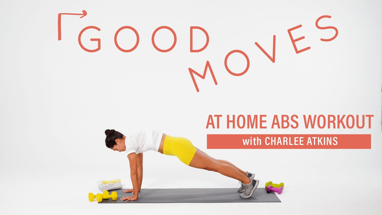15 Minute At-Home Abs Workout with Charlee Atkins | Good Moves | Well+Good