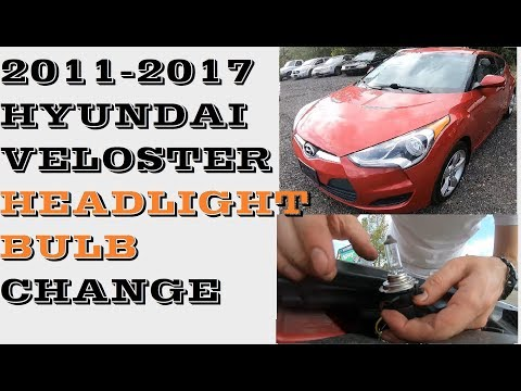 How to replace headlight bulb in Hyundai Veloster 2011-2017