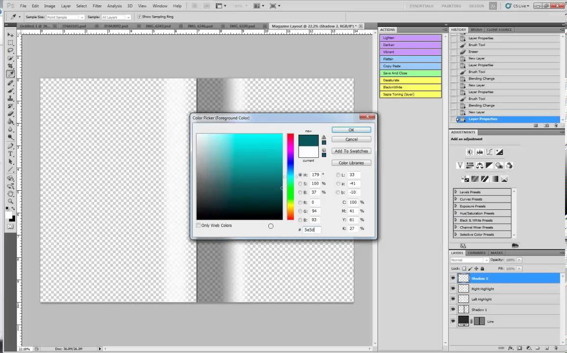 Create a still magazine layout in photoshop cs5 youtube for How to make a coloring book page in photoshop