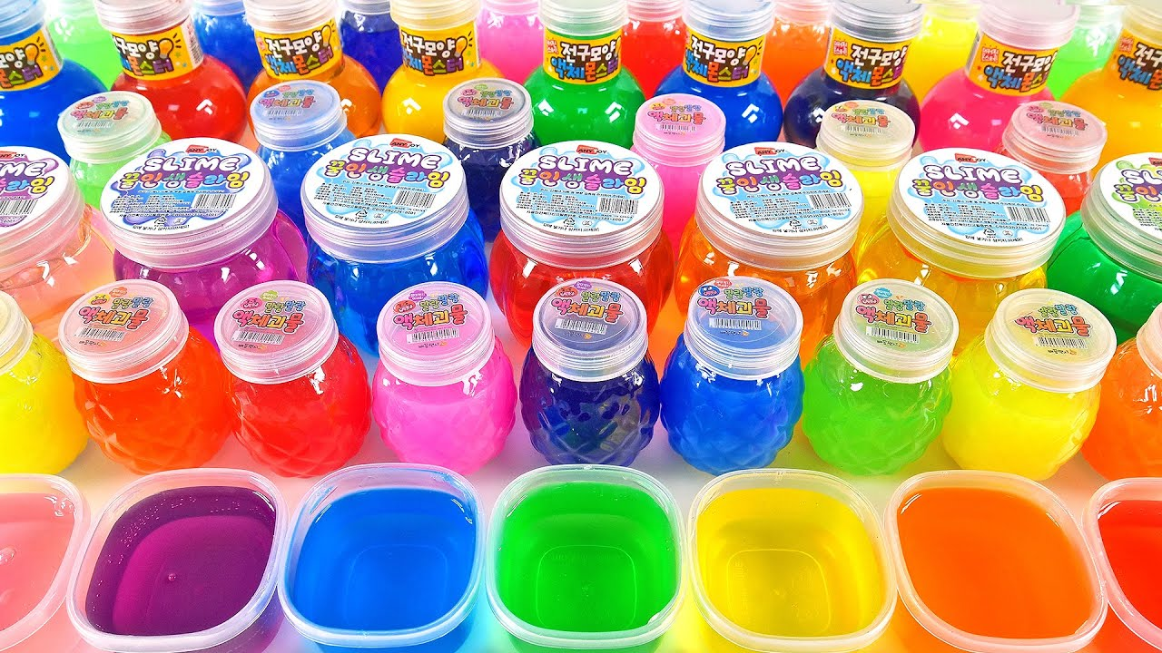 Download Satisfying Video l Mixing All My Slime Smoothie l Making Glossy Slime ASMR RainbowToyTocToc