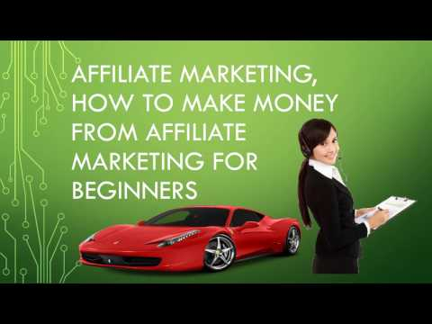 Affiliate marketing, How to make money from affiliate marketing for beginners thumbnail