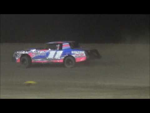 Salina Speedway Coors Light IMCA Stock Cars *Heat races & Feature* 4-14-17