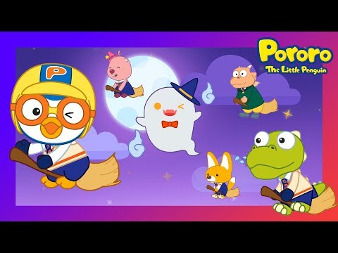 Pororo Halloween   Let's sing Para Pam with Pororo the wizard!   Halloween song   Nursery Rhymes
