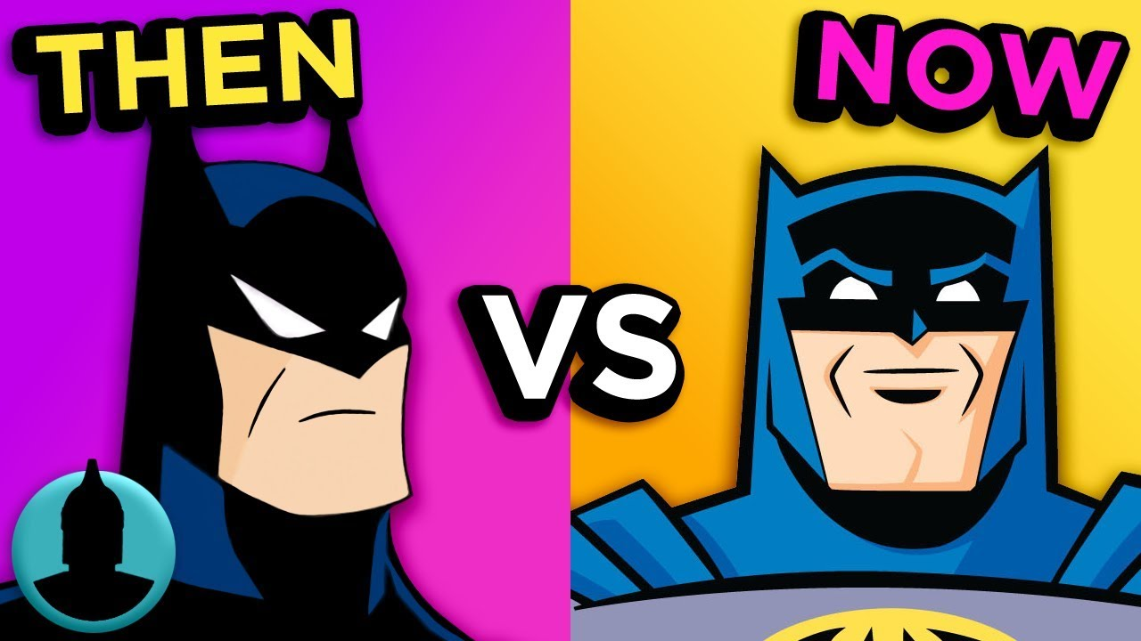 Then Vs Now Batman Animated Series The Evolution Of Batman
