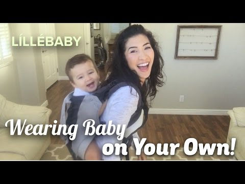 HOW TO: Put Baby in Carrier By Yourself (Back Carry), LILLEbaby CarryOn