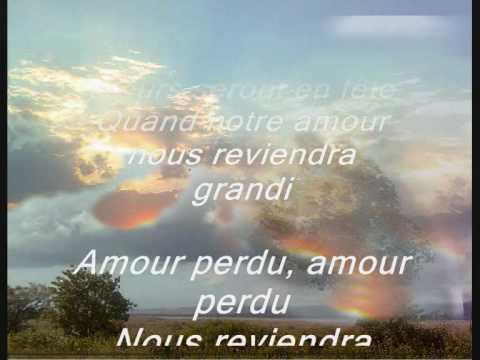 amour perdu - adamo- lyrics en francais