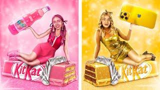 Золотая девушка Vs розовая девушка Цветной челлендж