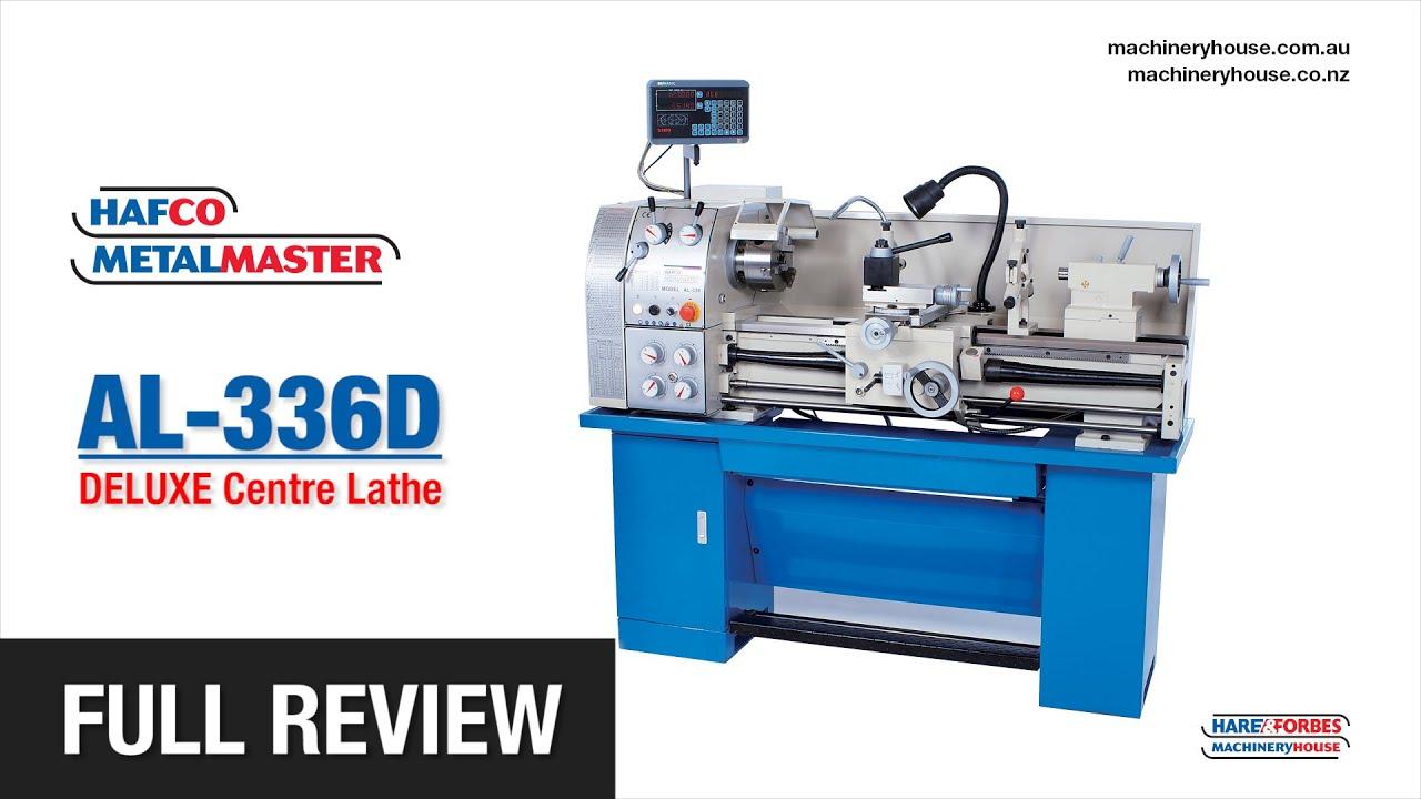 AL-336D DELUXE Centre Lathe HAFCO Metalmaster - Full Review (L682D)