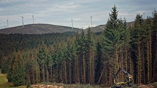 PONSSE forest machines logging in UK
