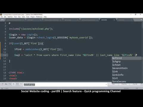 Social Website From Scratch - Part 99 - Search Feature | OOP PHP With MYSQL Database