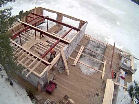 Building a boathouse in Muskoka