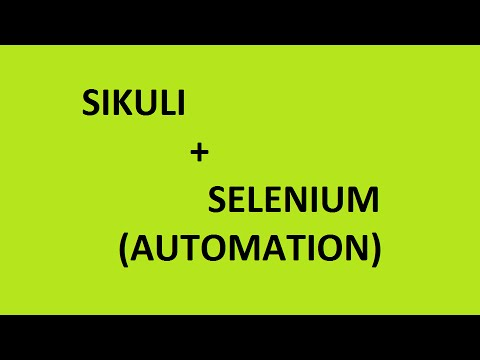 Sikuli with Selenium Automation