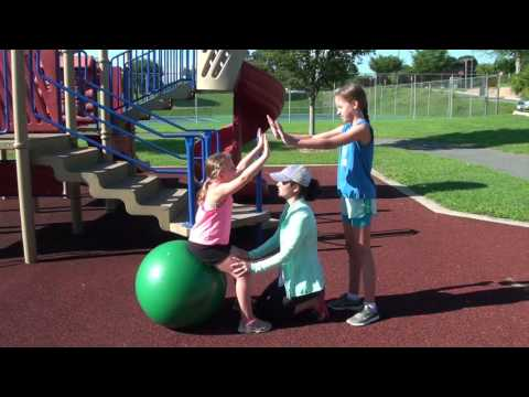 Kids Exercises with Exercise Ball