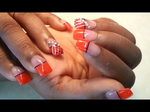 Quick Half Fingers Nail Tips Polish