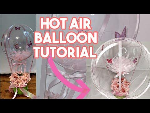 DIY Hot air Balloon Tutorial    Bubble Balloon With Flower Box