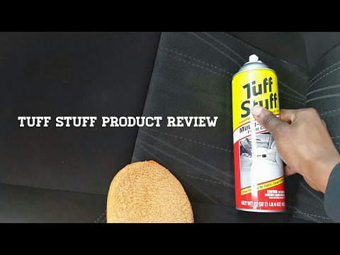 Tuff stuff product review/Car seat detailing
