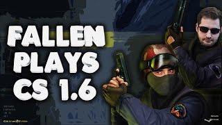 Fallen plays CS 1.6 on stream