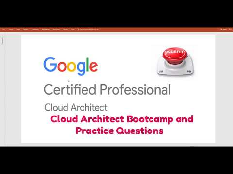 Google Cloud Platform(GCP ) Certified Professional -  Cloud Architect - Bootcamp Released on Udemy