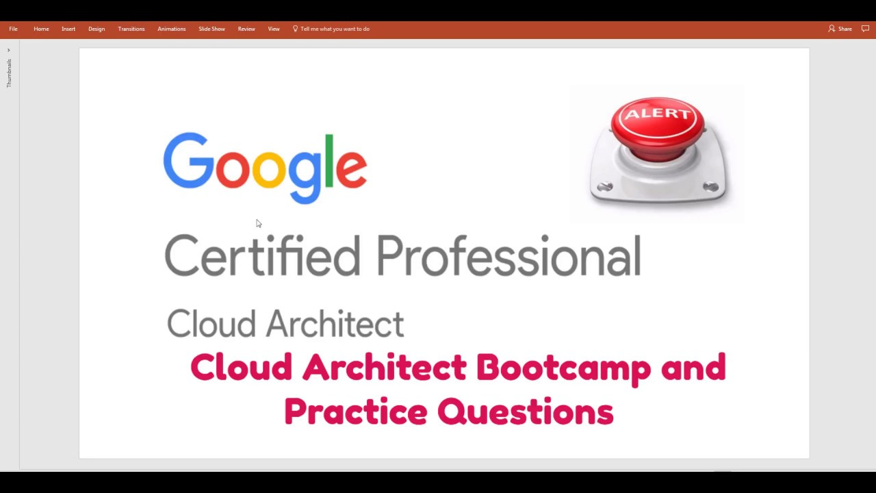 Google Cloud Platform(GCP ) Certified Professional - Cloud Architect ...