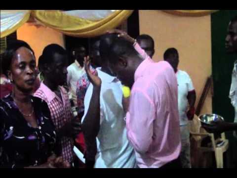 APOSTLE NANA ADJEI CONDUCTING A DELIVERANCE SERVICE