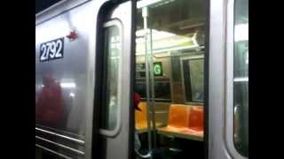 IND Fulton St/Crosstown SPECIAL:(8 car) R68 G train leaving Hoyt street