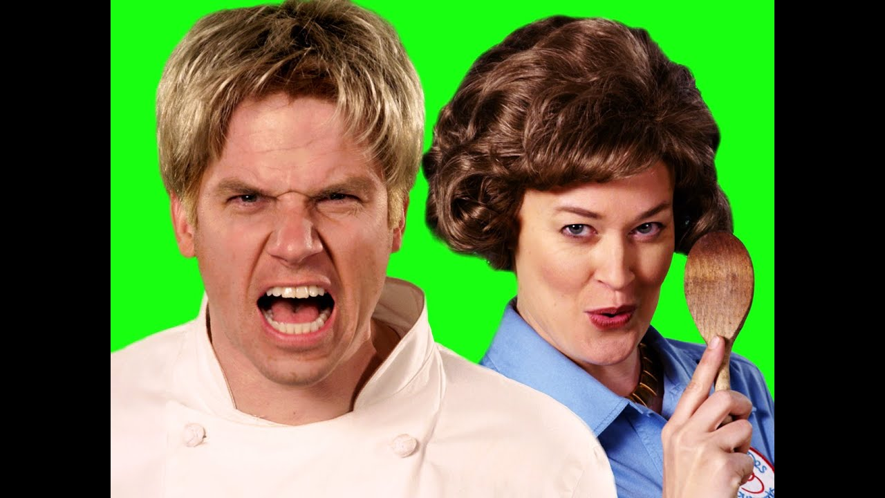 Gordon Ramsay vs Julia Child. ERB Behind the Scenes