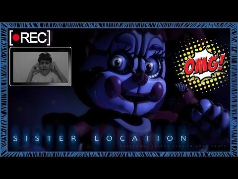 Five Nights at Freddys Sister Location! NOVO FNAF Jogo | FNF! TEASER! TRAILER! ANÁLISE! Reação!