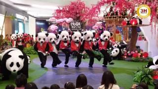 panda dancing barongsai show lippo mall puri 3heiz creative