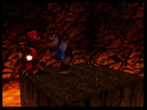 Donkey Kong 64 Boss #5 Dogadon again - YouTube  Donkey Kong 64 ...
