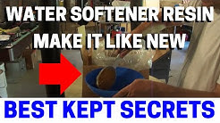 How To Replace Your Water Softener Resin, Media, Beads