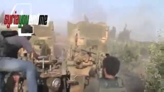 08 12 2013 FSA attacked and destroyed Hezbollah Tank in Qusair Syria war