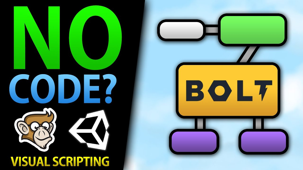 Make games without Code? Visual Scripting! (Unity, Bolt)