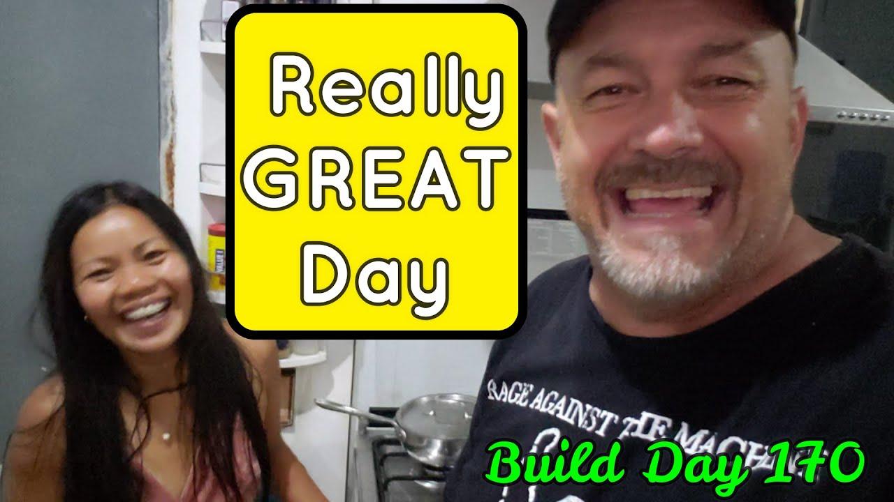 Philippines Beach House Build Day170: Raining, Building ,LOVING LIFE